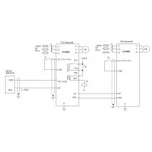 Cхема «ведущий-ведомый» для поддержания давления воды E4-8400
